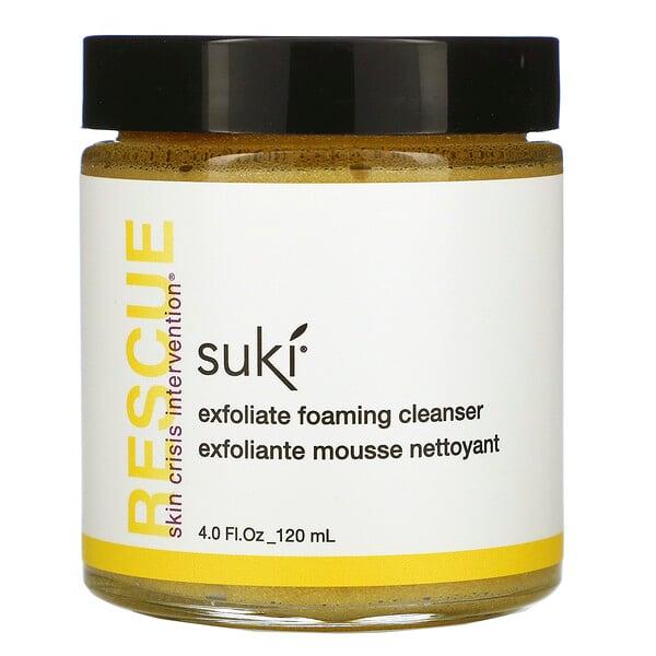 """Suki, """"Спасение"""", отшелушиващее пенящееся очищающее средство, 4.0 жидких унций (120 мл) (Discontinued Item)"""