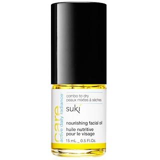 Suki Inc., ケア、ナリッシング フェイシャルオイル、0.5 液量オンス (15 ml)