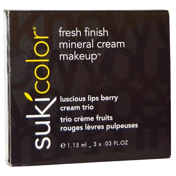 Suki Inc., Luscious Lips Berry Cream Trio, 3 x .03 fl oz (1.15 ml) (Discontinued Item)