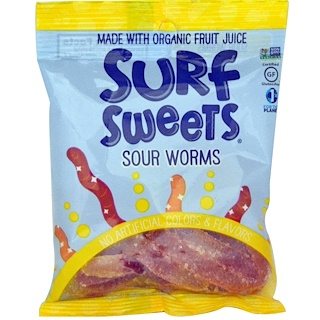 SurfSweets, Sour Worms, 2.75 oz (78 g)
