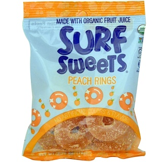 SurfSweets, Peach Rings, 2.75 oz (78 g)