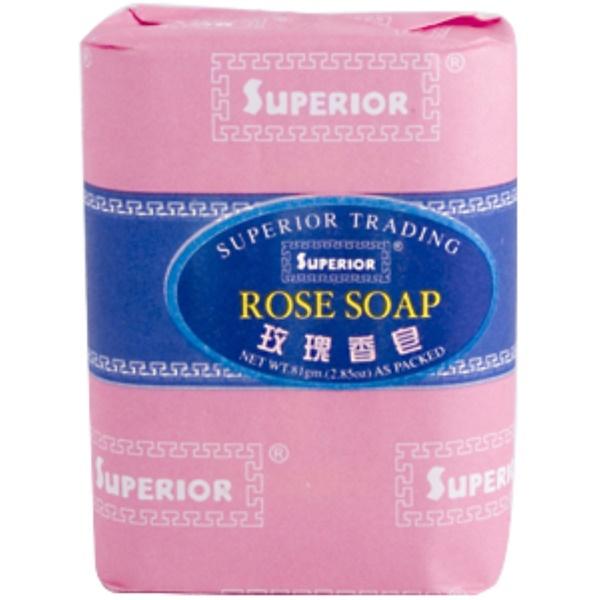 Superior Trading Company, Rose Soap, 2.85 oz (.81 g) Bar (Discontinued Item)