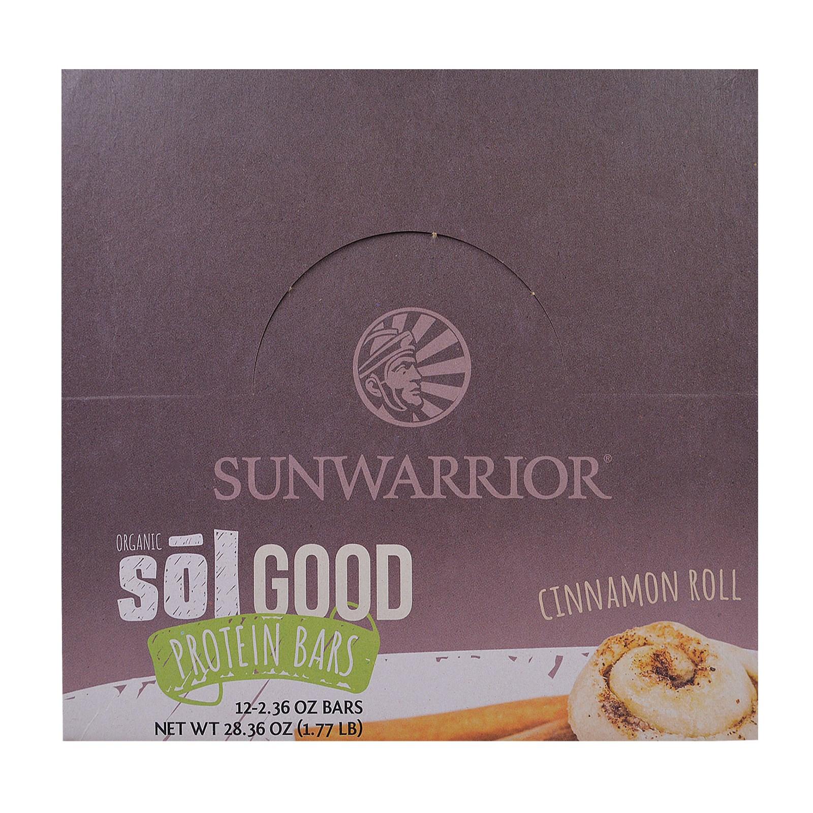 Sunwarrior, Хорошие Белковые батончики с Органической Солью, Рулет с Корицей, 12  батончиков, 2,19 унции каждий