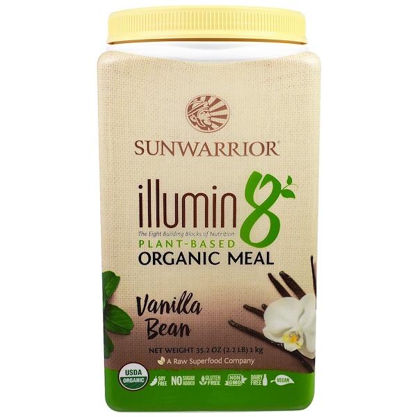 Sunwarrior, Illumin 8, Plant-Based Organic Meal, Vanilla Bean , 35.2 oz (2.2 lb) (Discontinued Item)