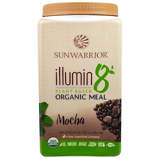 Sunwarrior, Illumin 8, Plant-Based Organic Meal, Mocha, 35.2 oz (2.2 lb)