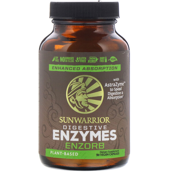 Sunwarrior, Enzorb Digestive Enzymes, 90 Vegan Capsules