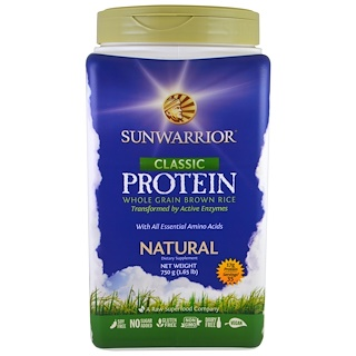 Sunwarrior, Classic Protein, Whole Grain Brown Rice, Natural, 1.65 lb (750 g)