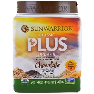 Sunwarrior, オーガニック, クラシックプラス, チョコレート, 13.2 oz (375 g)