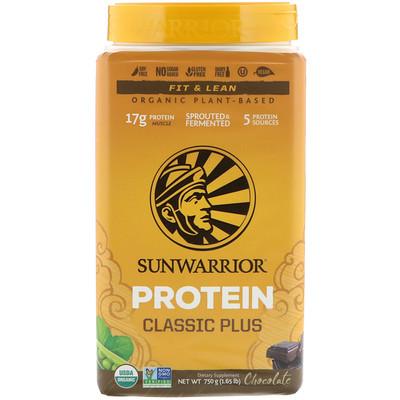 Протеин Classic Plus, на органической растительной основе, шоколад, 750 г (1,65 фунта)