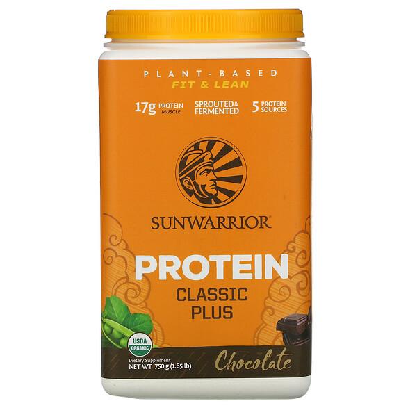 Protein Classic Plus,植物鹽基,巧克力,1.65 磅(750 克)