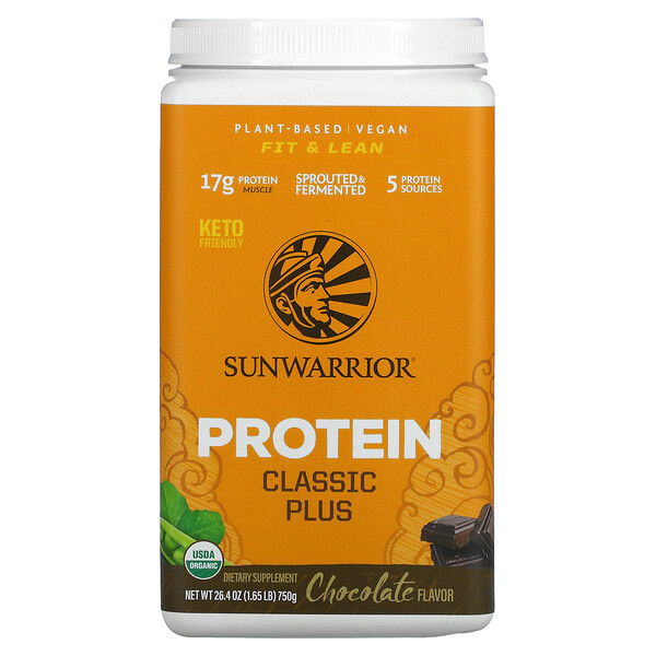 Protein Classic Plus , Plant Based, Chocolate, 1.65 lb (750 g)