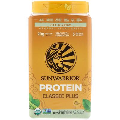 Classic Plus Protein, органический, на растительной основе, натуральный, 1,65 фунтов (750 г) complete protein натуральный вкус 840г