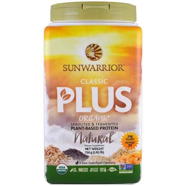 Sunwarrior, Organic, Classic Plus, Natural, 1.65 lb (750 g)