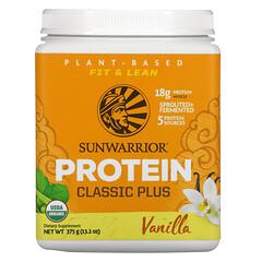Sunwarrior, Protein Classic Plus,植物基,香草味,13.2 盎司(375 克)