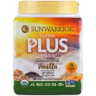 Sunwarrior, オーガニッククラシックプラス, バニラ, 13.2 oz (375 g)