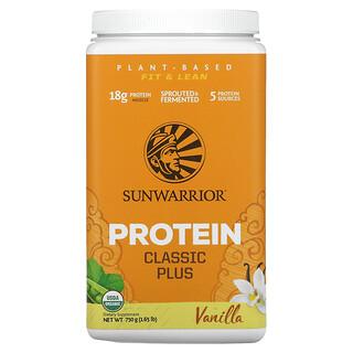 Sunwarrior, ClassicPlus, Protéines à base de plantes biologiques, Vanille, 750g