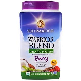 Sunwarrior, Warrior Blend, Plant-Based Organic Protein, Berry , 1.65 lb (750 g)