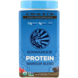 Sunwarrior, Warrior Blend Protein, Organic Plant-Based, Chocolate, 1.65 lb (750 g)