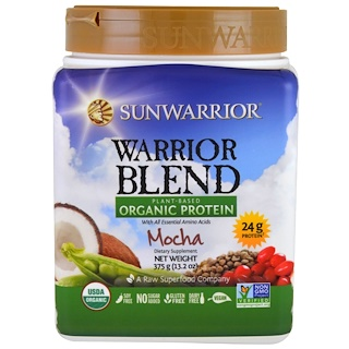 Sunwarrior, Warrior Blend, Plant-Based Organic Protein, Mocha, 13.2 oz (375 g)