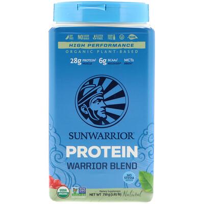Органический натуральный протеиновый коктейль Warrior Blend Protein на растительной основе, 1.65 фт. (750 г) недорого