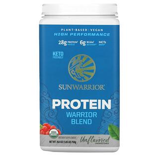 Sunwarrior, Mezcla proteica para guerreros, Orgánica y de origen vegetal, Sin sabor, 750g (1,65lb)