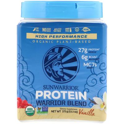 Купить Протеиновая смесь Warrior, органическая, на растительной основе, со вкусом ванили, 375 г