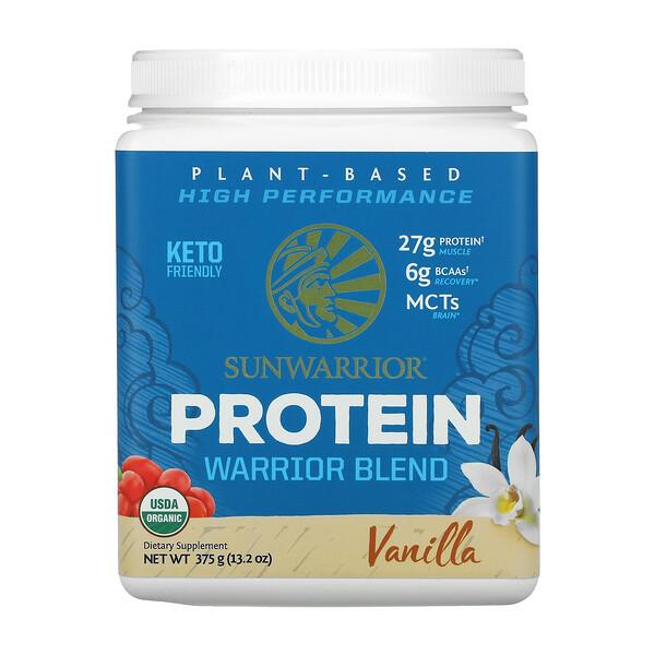 Warrior Blend Protein, Organic Plant-Based, Vanilla, 13.2 oz (375 g)