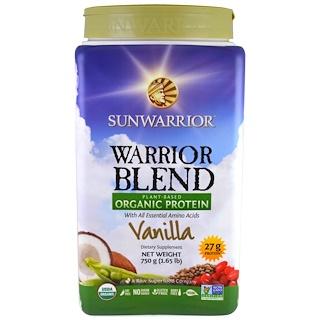 Sunwarrior, Warrior Blend, Plant-Based Organic Protein, Vanilla , 1.65 lb (750 g)