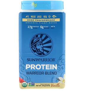 Sunwarrior, Protéine de mélange de guerrier, organique à base de plante, vanille, 1,65 lb (750 g)