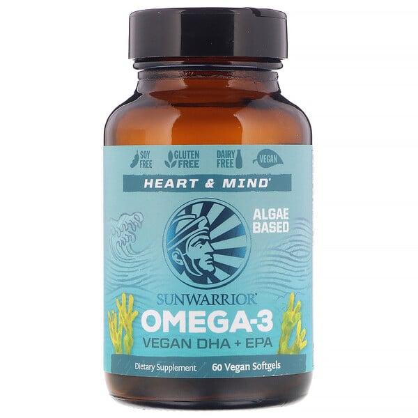 أوميجا-3؛ أحماض الدوكوهكساينويك + الإيكوسابنتاينويك النباتية، 60 كبسولة هلامية نباتية