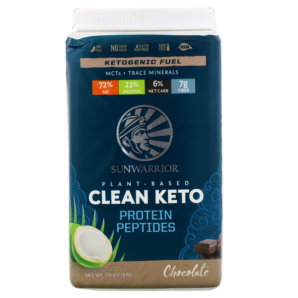 Plant-Based Clean Keto, Chocolate, 1.59 lb (720 g)