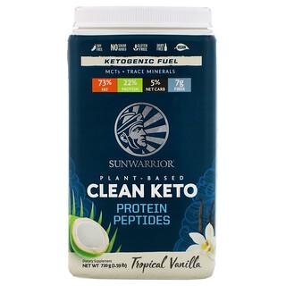 Sunwarrior, Plant-Based Clean Keto Protein Peptides, Tropical Vanilla, 1.59 lb (720 g)