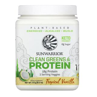 Sunwarrior, Clean Greens & Protein, Tropical Vanilla, 6.17 oz (175 g)