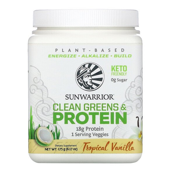 Clean Greens & Protein, Tropical Vanilla, 6.17 oz (175 g)