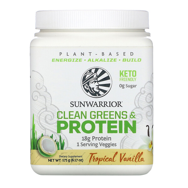Sunwarrior, Clean Greens & Protein,热带香草,6.17 盎司(175 克)