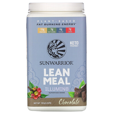 Купить Sunwarrior Illumin8 Lean Meal, Chocolate, 1.59 lb (720 g)