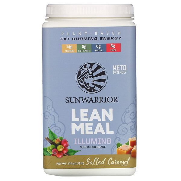 Sunwarrior, Illumin8 Lean Meal, Salted Caramel, 1.59 lb (720 g)