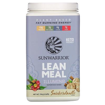 Sunwarrior Illumin8 Lean Meal, Snickerdoodle, 1.59 lb (720 g)  - купить со скидкой