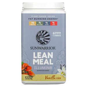 Sunwarrior, Illumin8 Lean Meal, Vanilla, 1.59 lb (720 g)