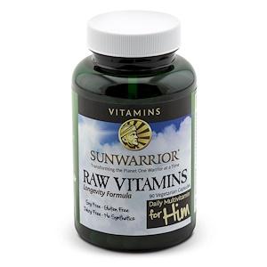 Сунвориор, Raw Vitamins, Daily Multivitamin for Him, 90 Veggie Caps отзывы