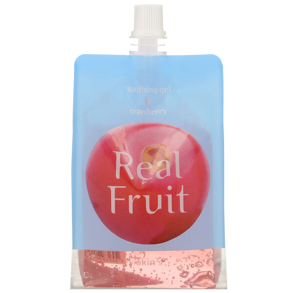 Real Fruit Soothing Gel, Cranberry, 10.58 oz (300 g)