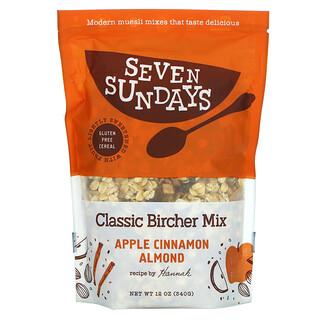 Seven Sundays, Classic Bircher Mix, Apple Cinnamon Almond, 12 oz (340 g)