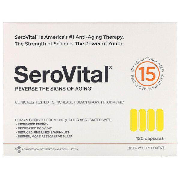 SeroVital, Anti-Aging Therapy, 120 Capsules (Discontinued Item)