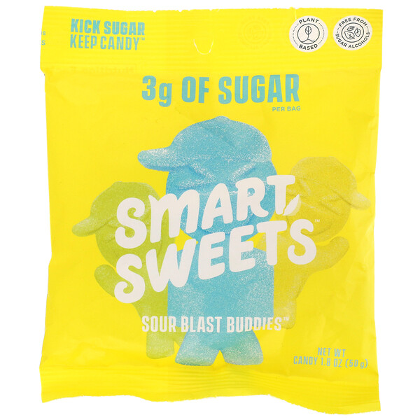 Sour Blast Buddies,  Berry, Blue Raspberry, Lime, Lemon, Orange, 1.8 oz (50 g)