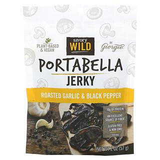 Savory Wild, Portabella Jerky, Roasted Garlic & Black Pepper, 2 oz (57 g)