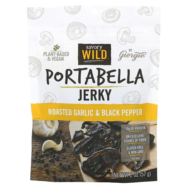 Portabella Jerky, Roasted Garlic & Black Pepper, 2 oz (57 g)