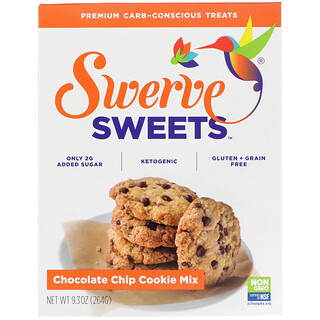 Swerve, Sweets, Chocolate Chip Cookie Mix, 9.3 oz (264 g)