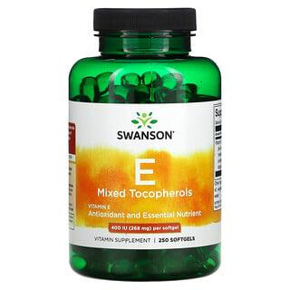 Swanson, Vitamin E Mixed Tocopherols, 400 IU, 250 Softgels