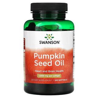 Swanson, 南瓜籽油,1000 毫克,100 粒軟凝膠