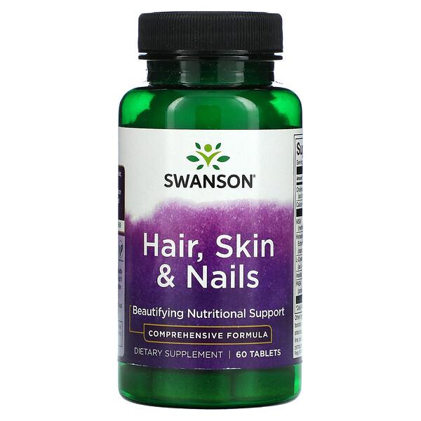 Swanson, Hair, Skin & Nails, 60 Tablets